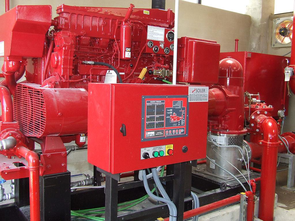 Instalación contra incendios