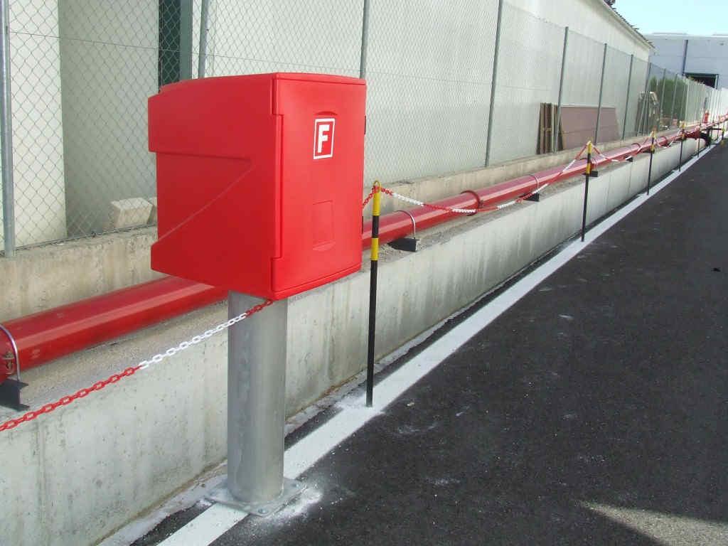 instalación de hidrantes contra incendios