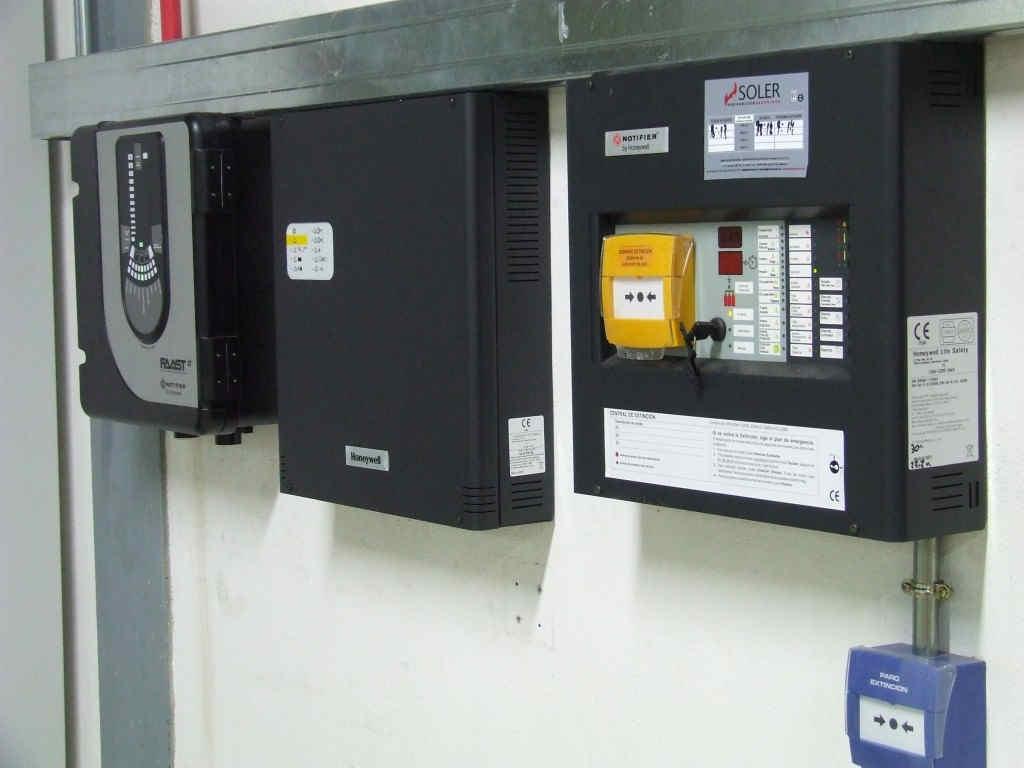 protección contra incendios por gases