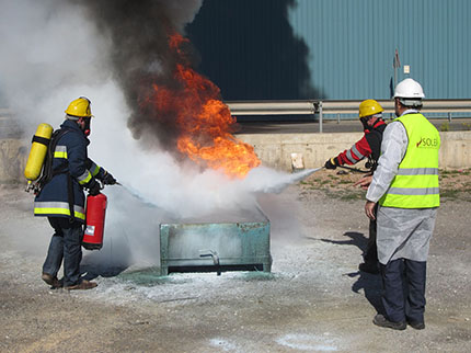 Formacion contra incendios Soler