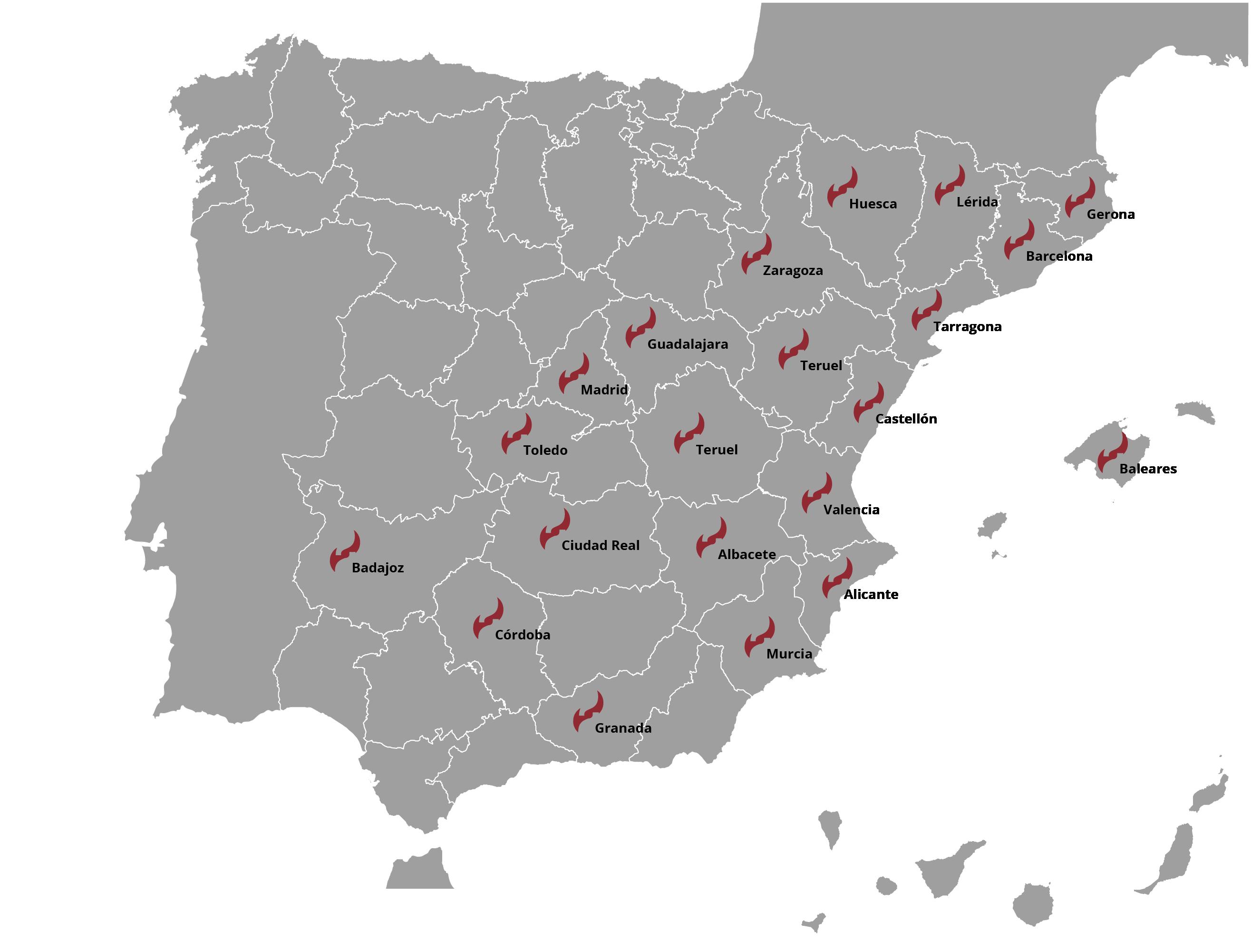 Presencia de Soler Prevención en España