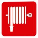 señales contra incendios manguera