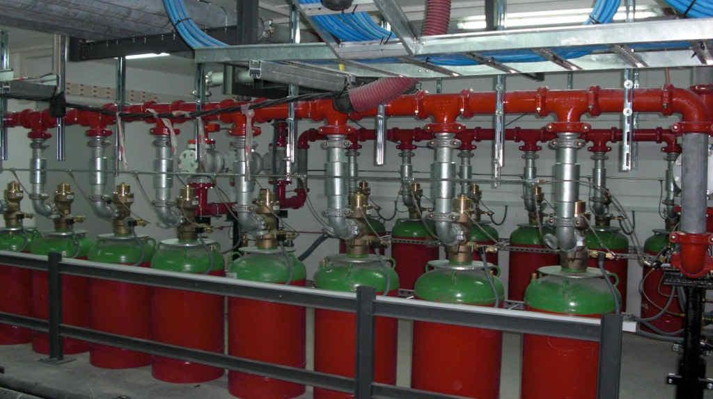 sistema de extinción de incendios por gases