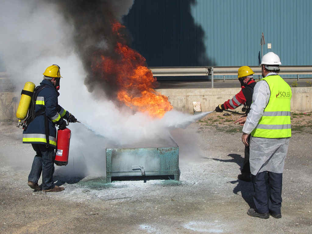 formación protección contra incendios