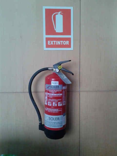 extintores para extinción de incendios