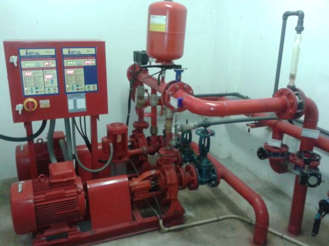 sistema de agua contra incendios